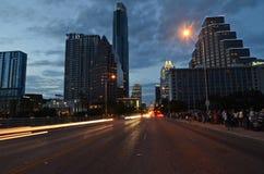 Austin Texas at night Royalty Free Stock Photo