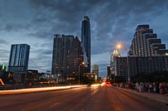 Austin Texas at night Stock Image