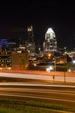 Austin Texas at night. I35 Traffic lights in Austin, Texas Royalty Free Stock Photos