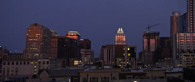 Austin Texas at night royalty free stock photography