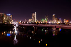Austin Texas by night. Night time picture of downtown Austin, Texas Royalty Free Stock Photos