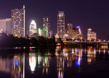 Austin Texas by night Royalty Free Stock Image