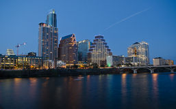 Austin Texas by night Stock Photography