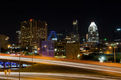 Austin Texas at night Stock Photography
