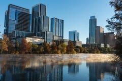 Austin Texas op een Koude Ochtend Royalty-vrije Stock Foto's