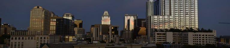 Austin Texas på solnedgången Arkivbild