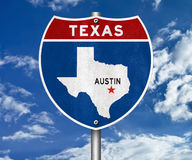 Austin Texas road sign Royalty Free Stock Photography