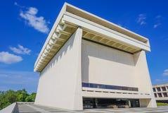 AUSTIN TEXAS 17 SEPTEMBER, 2017: De buitenkant van Lyndon B Johnson Library en Museum Royalty-vrije Stock Foto