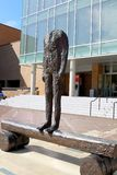 Figure of a Trunk, work of Magdalena Abakanowicz located on Bass Concert Hall Plaza stock photo