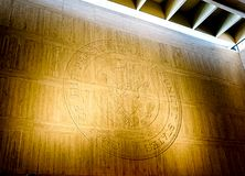 AUSTIN TEXAS- SEPTEMBER 17, 2017: The Presidential Seal at Lyndon B Johnson LBJ Library and Muse royalty free stock images