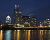 Austin Texas Skyline. Night view of the Austin Texas Skyline Royalty Free Stock Photography