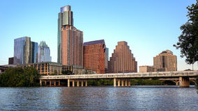 Austin, Texas Skyline Along the Colorado River Stock Images