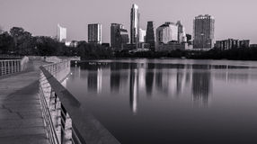 Austin Texas Skyline Black e bianco 2015 Immagini Stock