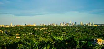 Free Austin Texas Skyline Blue Sky Day Panoramic Greenbelt View Stock Image - 55866591