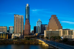 Austin texas skyline cityscape blue sky Royalty Free Stock Photos