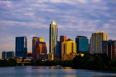 Austin texas skyline cityscape morning sunrise Royalty Free Stock Images