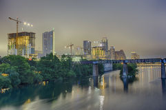Austin Texas Skyline at Night Stock Photos