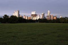 Austin Texas Skyline, parco di Zilker fotografia stock