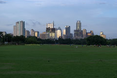 Austin, Texas skyline at sunset from Zilker Park Royalty Free Stock Photos