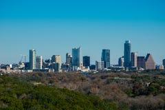 Austin Texas Skyline un giorno del cielo blu Fotografie Stock Libere da Diritti