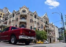 austin texas Staaten von Amerika August 2015 6. Straße f lizenzfreie stockfotos