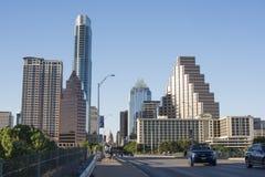 Austin Texas-Stadtskyline während des Tages stockbild