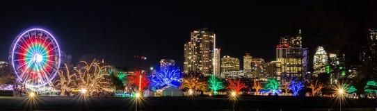 Austin, Texas Trail von Lichtern lizenzfreies stockbild