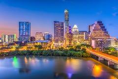 Austin, Texas, USA. Downtown skyline over the Colorado River royalty free stock photos