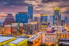 Austin, Texas, USA Cityscape. Austin, Texas, USA downtown cityscape at dusk stock photo