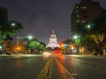 Austin Texas van de binnenstad bij nachtfotografie royalty-vrije stock foto's
