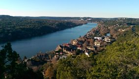 Austin Texas. View of Austin Texas from Mount Bonnell Royalty Free Stock Photography