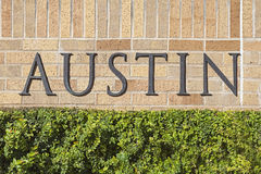 Austin Text Sign Stock Photos