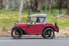 1925 Austin 7 Tourer. Adelaide, Australia - September 25, 2016: Vintage 1925 Austin 7 Tourer driving on country roads near the town of Birdwood, South Australia Stock Photography
