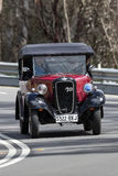 1937 Austin 7 Tourer-het drijven bij de landweg Stock Fotografie