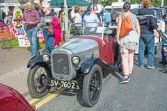 Austin two seater sports car. Rare Vintage Austin 2 seater sports car from 1920`s on show at Motor Mania held at Grantown on Spey on 3rd September 2017 royalty free stock photos