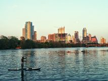 Austin TX Downtown Stock Image