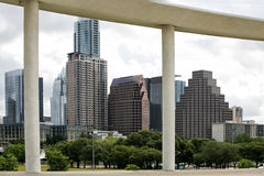 Austin, TX. Austin, Texas: view on downtown from Long Center for the Performing Arts Royalty Free Stock Photos