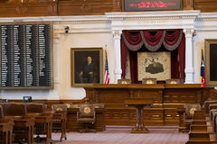 Austin, TX/USA - circa February 2016: House of Representatives Chamber in Texas State Capitol in Austin,  TX Stock Image