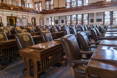Austin, TX/USA - circa February 2016: House of Representatives Chamber in Texas State Capitol in Austin,  TX. Austin, TX/USA - circa February 2016: House of Stock Photography