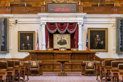 Austin, TX/USA - circa February 2016: House of Representatives Chamber in Texas State Capitol in Austin,  TX Royalty Free Stock Images