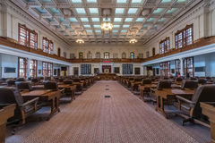 Austin, TX/USA - circa February 2016: House of Representatives Chamber in Texas State Capitol in Austin,  TX Stock Photography