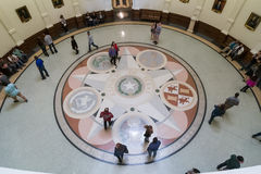 Austin, TX/USA - circa February 2016: Mosaic showing the seals of the six nations that have governed Texas in State Capitol. In Austin, TX Royalty Free Stock Photos