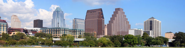 Austin van de binnenstad, Texas Stock Afbeeldingen