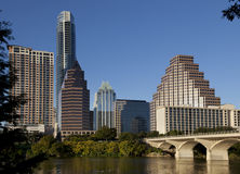 Austin van de binnenstad, Texas Royalty-vrije Stock Afbeelding