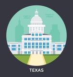 Austin, Vektor-Ikone Texas, USA Lizenzfreie Stockfotografie