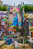 Austins室外街道画美术画廊希望喷漆 免版税库存照片
