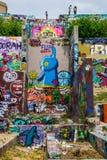 Austins graffiti galerii sztuki nadziei kiści Plenerowa farba Zdjęcia Royalty Free
