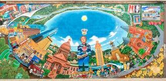 """""""Austintatious"""" väggmålning Royaltyfri Bild"""