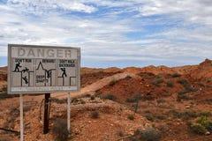 Austrália, Coober Pedy, Opal Mining imagem de stock