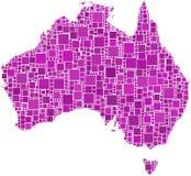 Austrália em um mosaico cor-de-rosa Foto de Stock